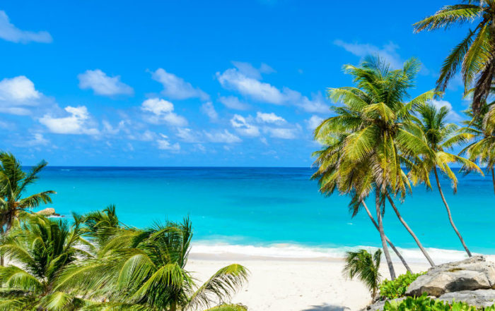 VIew of stunning barbados beach