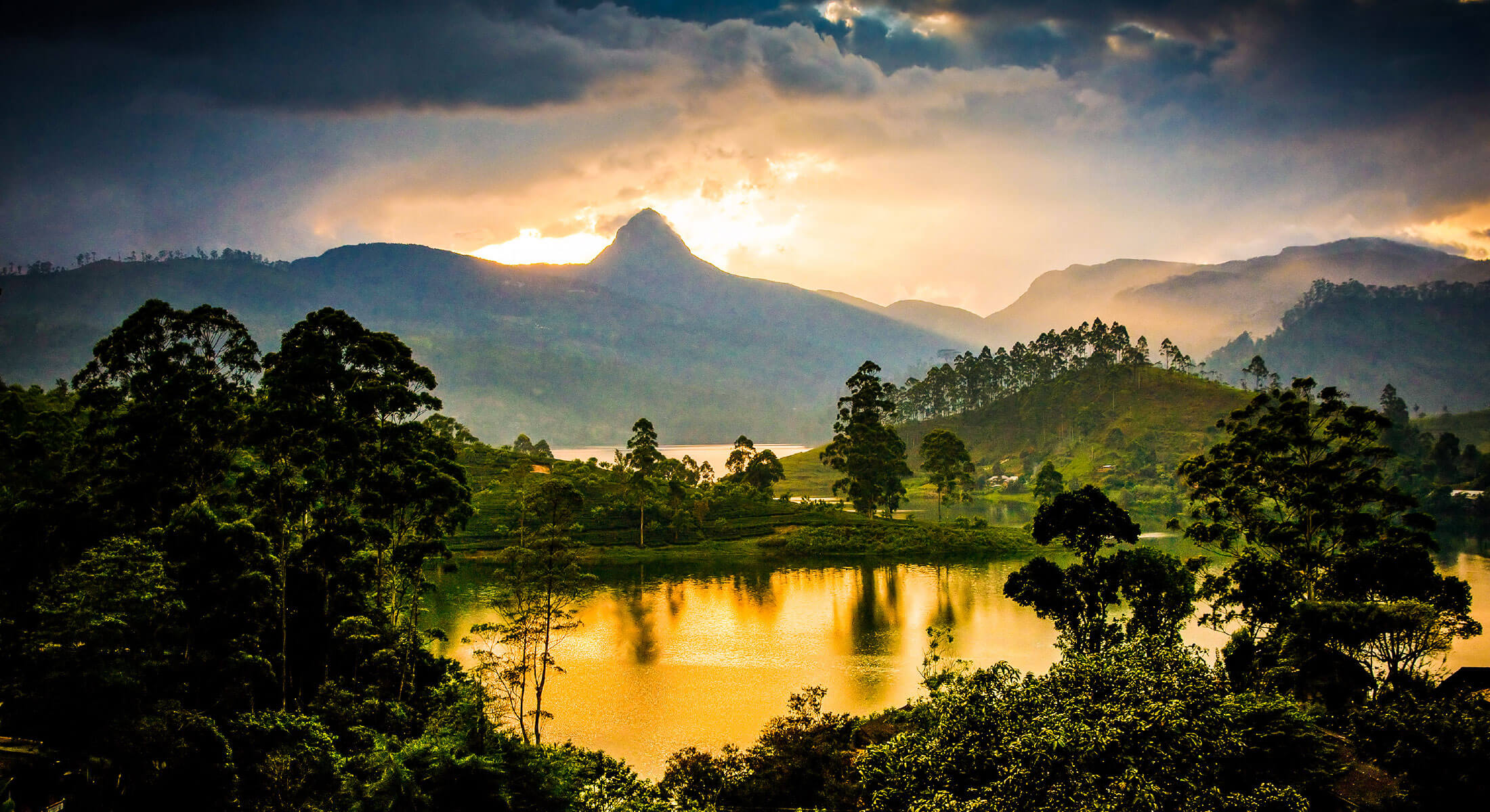 Beautiful view over lakes and mountains on your next luxury holiday