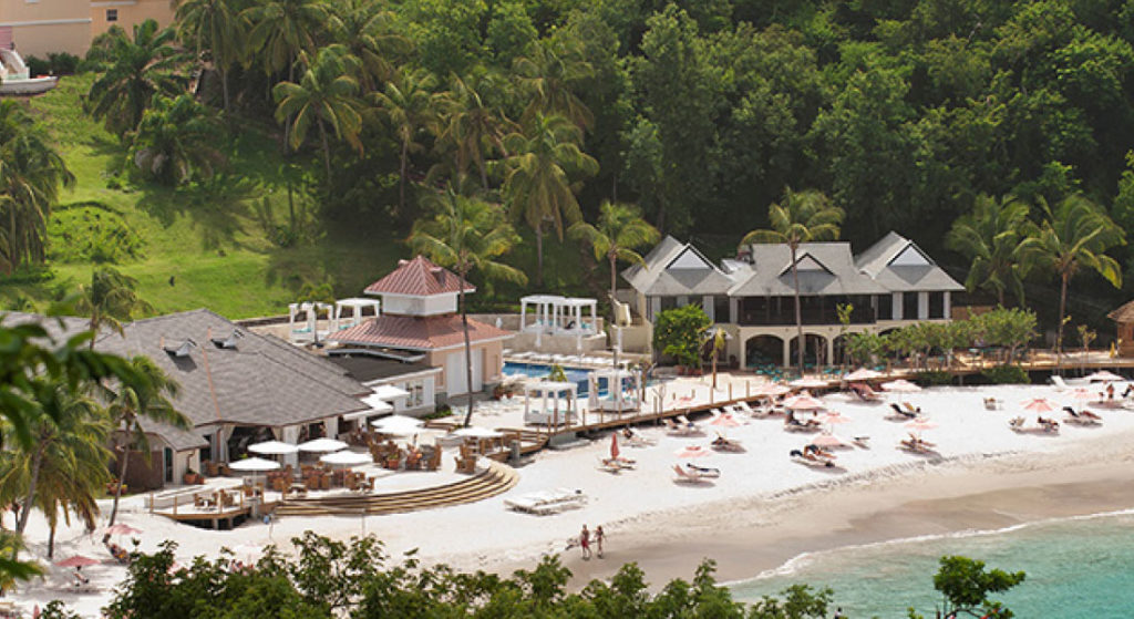 Resort beach at the BodyHoliday in St Lucia