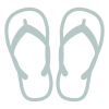Icon showing sandals