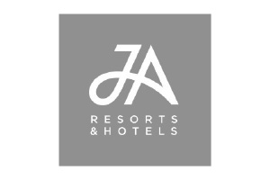 JA Resorts Logo. Luxury holidays resort brand