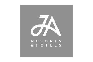 JA Resorts Logo. Luxury holidays resort brand