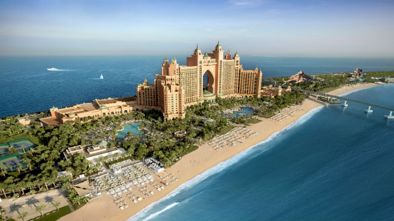 Aerial View of Atlantis the Palm