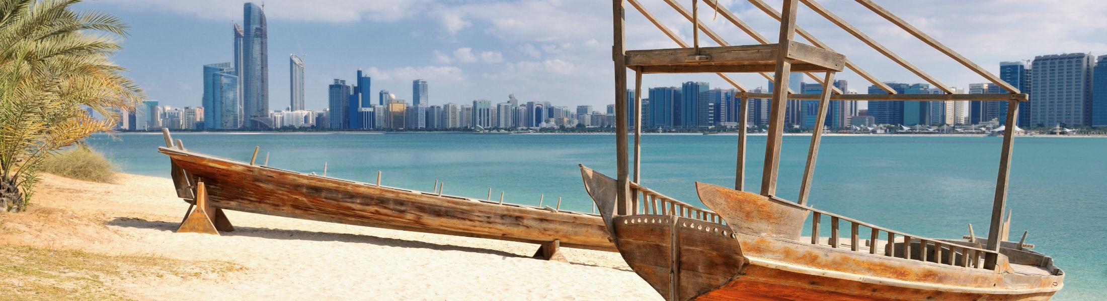 Dubai - Old boats on beach