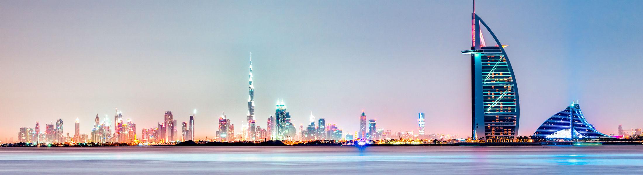 Dubai - View of city and Burj Khalifa