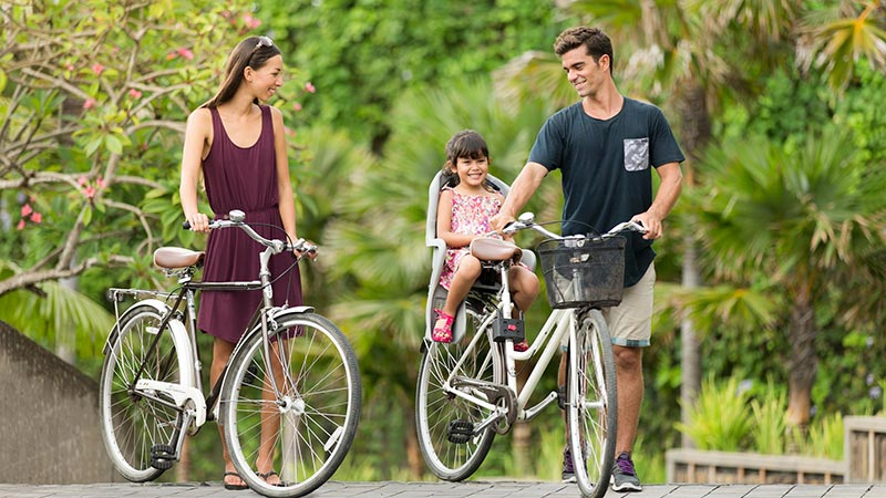 Family Cycling - Fairmont Sanur Beach, Bali