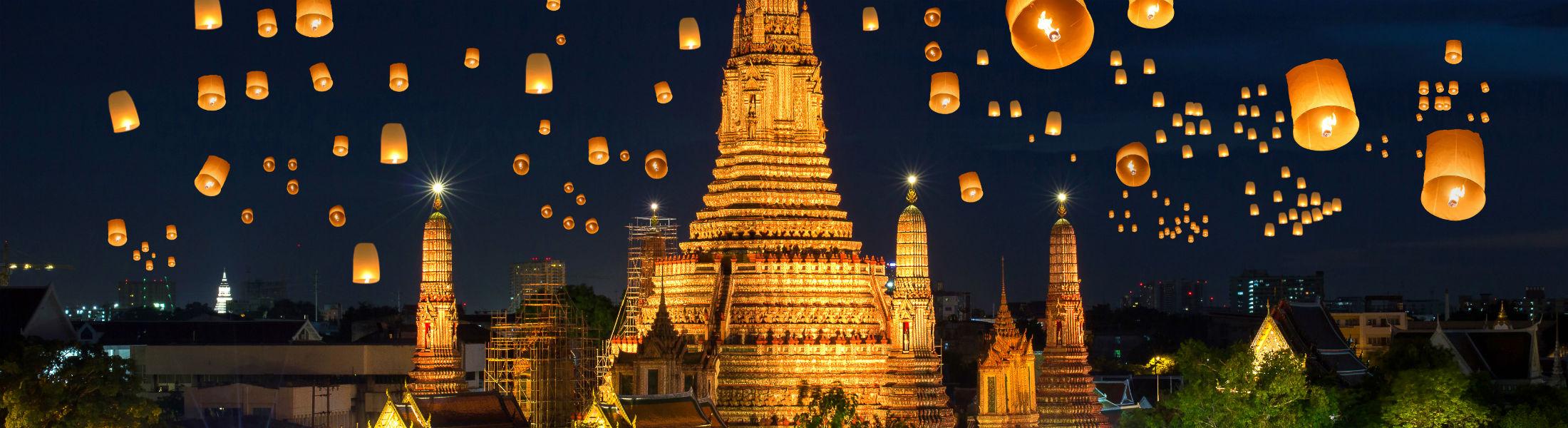 Floating lamp in yee peng festival