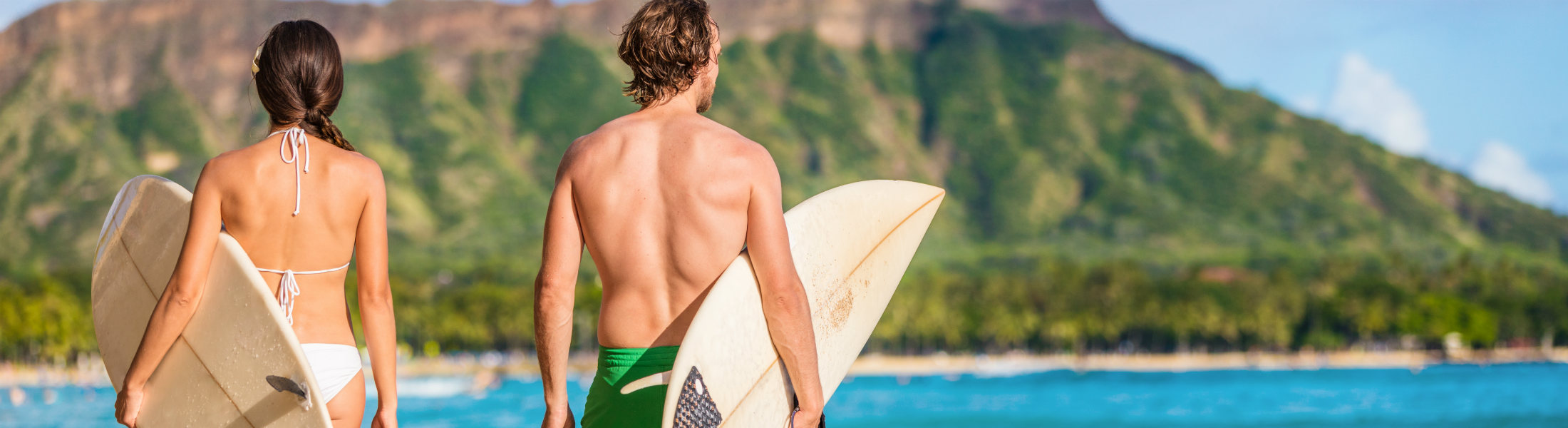 Hawaii surfers people relaxing on waikiki beach