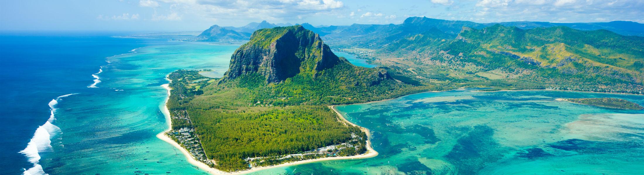 Mauritius Isalnd aerial View