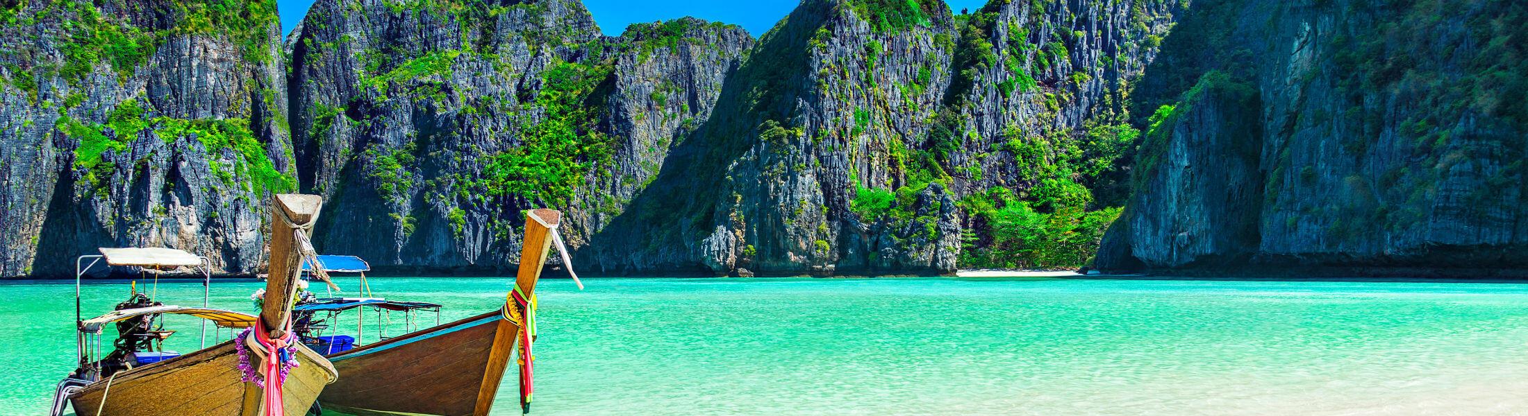 Maya Bay beach at Koh Phi Phi Leh Island