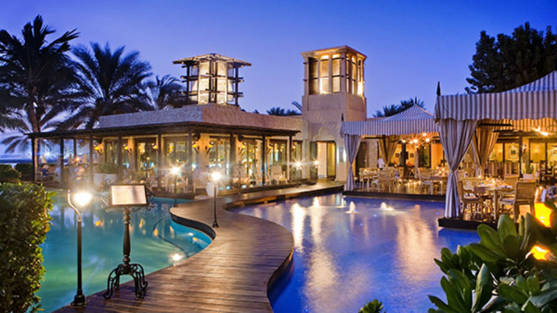 One&Only Royal Mirage, restaurant view night time