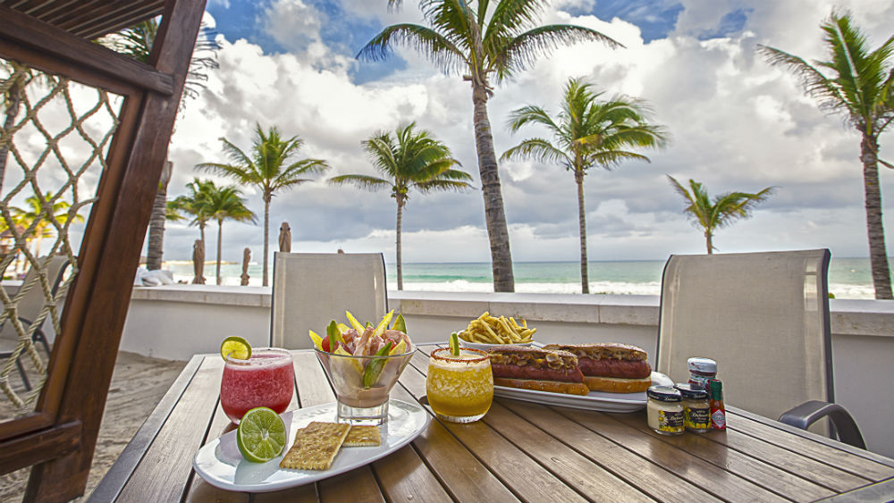Breakfast dining by the beach Grand Residences Riviera Cancun