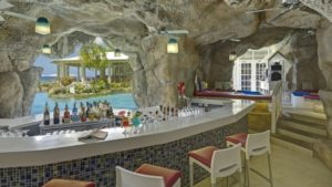 The cave bar at Crystal Cove in Barbados
