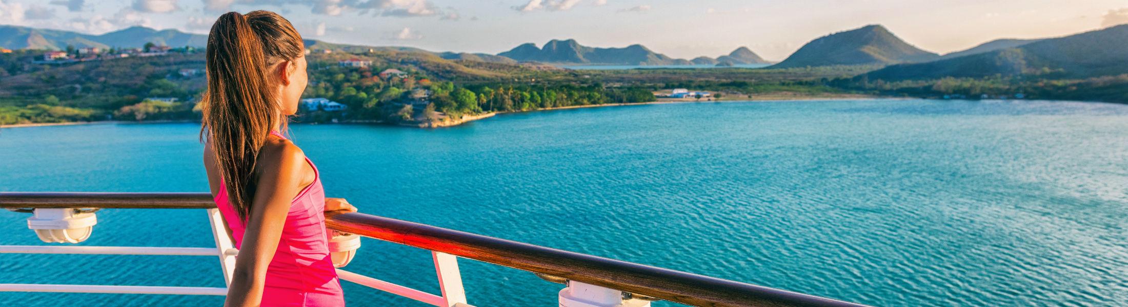 Cruise ship tourist woman