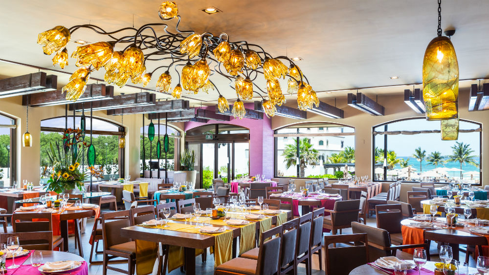 Flor Canela dining area at theGrand Residences Riviera Cancun