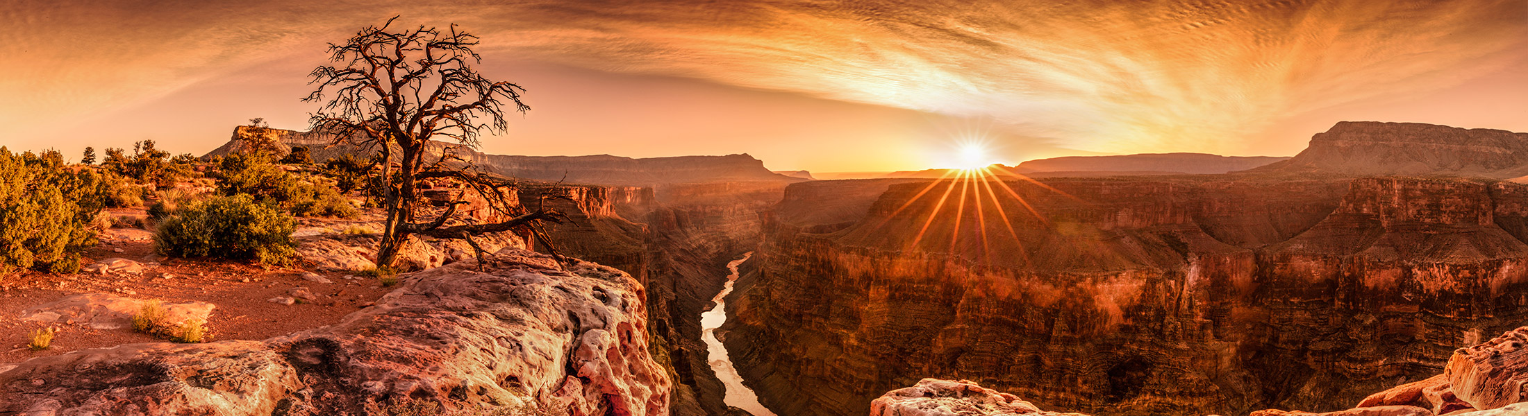 Grand Canyon at Sunset in North America