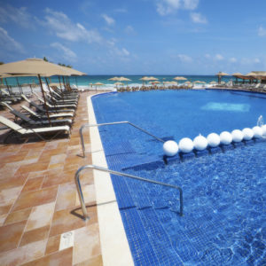 Grand Residences Riviera Cancun pool and beach front