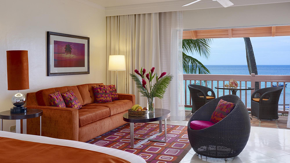 View from living room in the Junior Suite Ocean View at Crystal Cove by Elegant Hotels