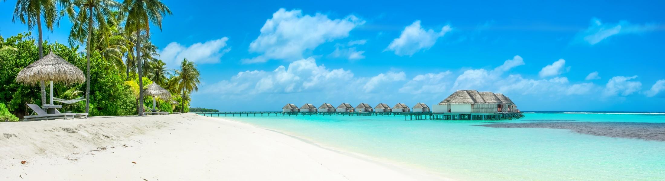 Overwater villas in the Maldives