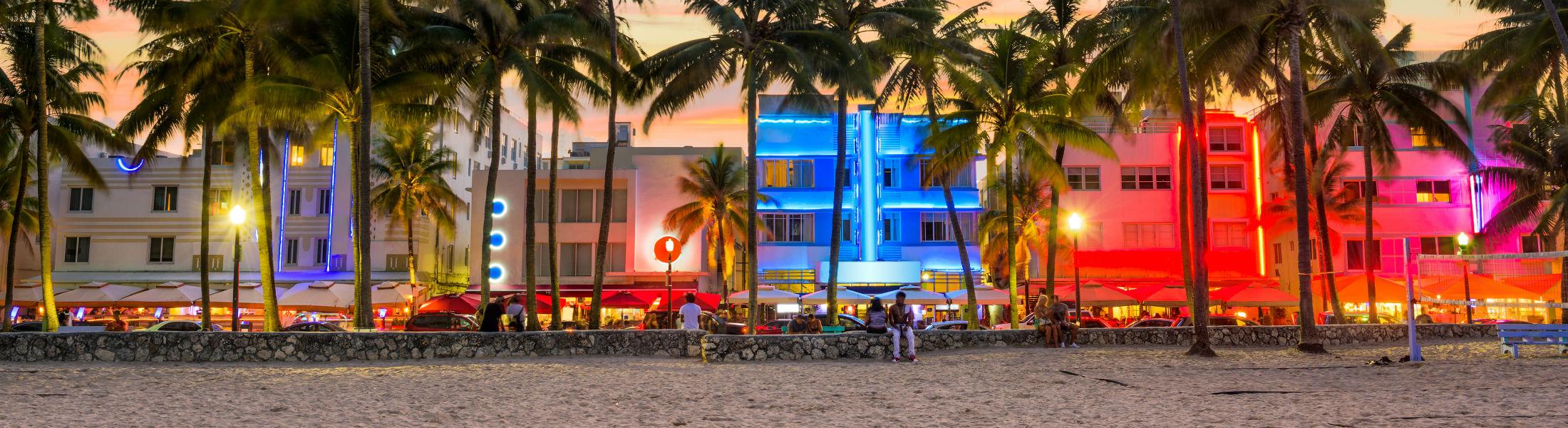 Miami Beach Florida USA on Ocean Drive
