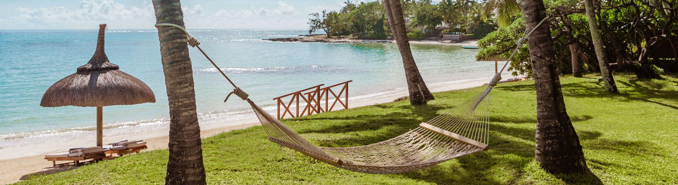 One&Only Le Saint Geran, Mauritius - beach with hammock