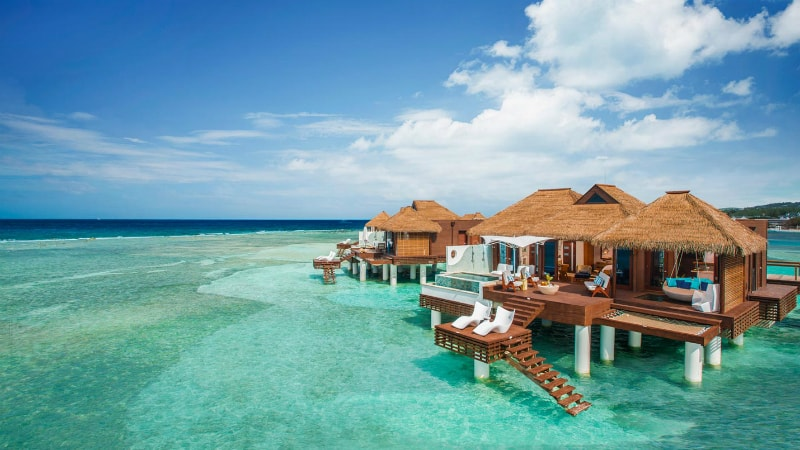 Over The Water Bungalows Sandals Royal Caribbean