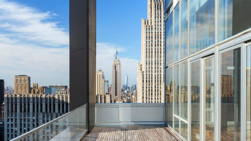 Penthouse Balcony at the Baccarat Hotel