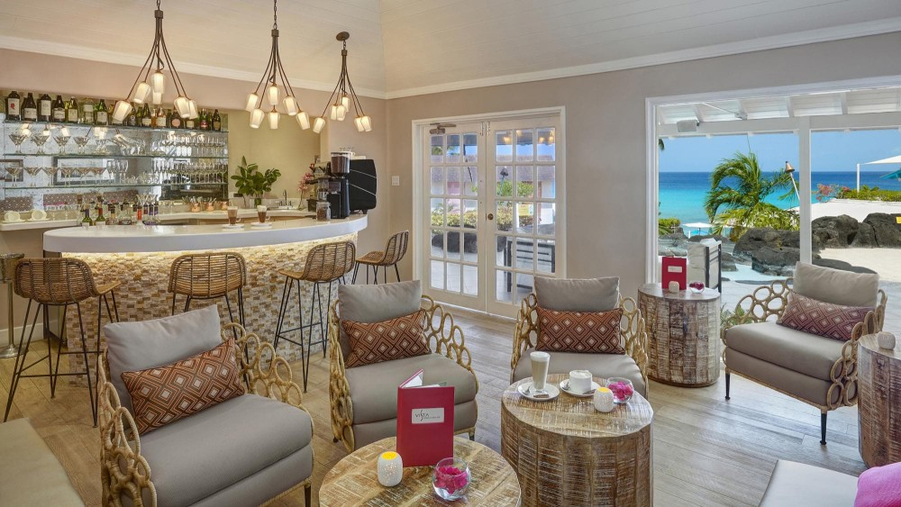 Restaurant with beach views at Crystal Cove in Barbados