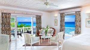 Room with a sea view at Coral Reef Club in Barbados