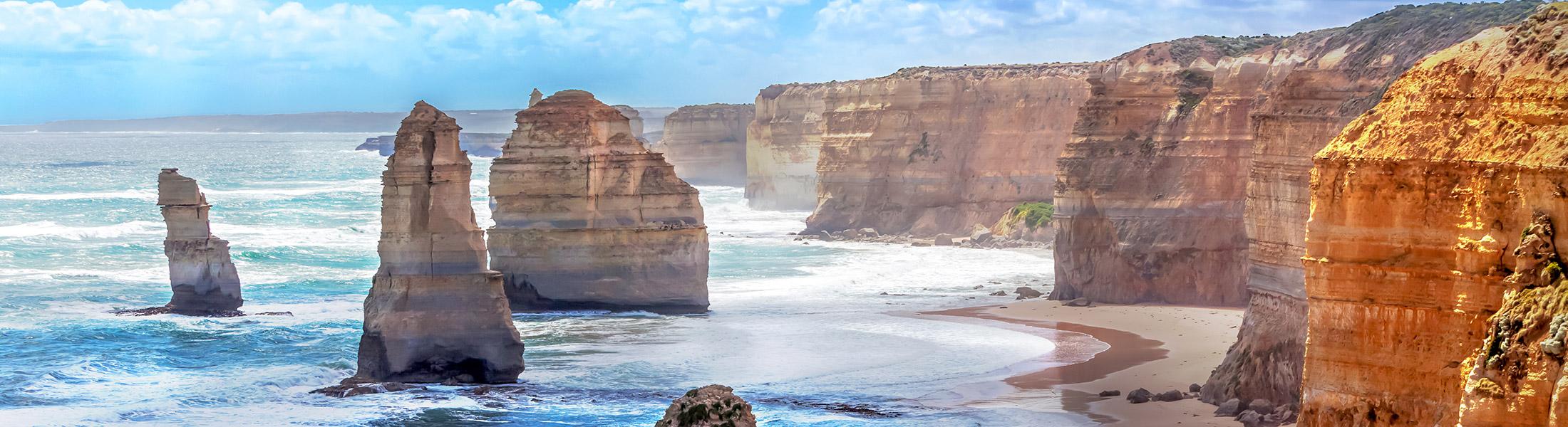 The Twelve Apostles on the Great Ocean Road in Australia