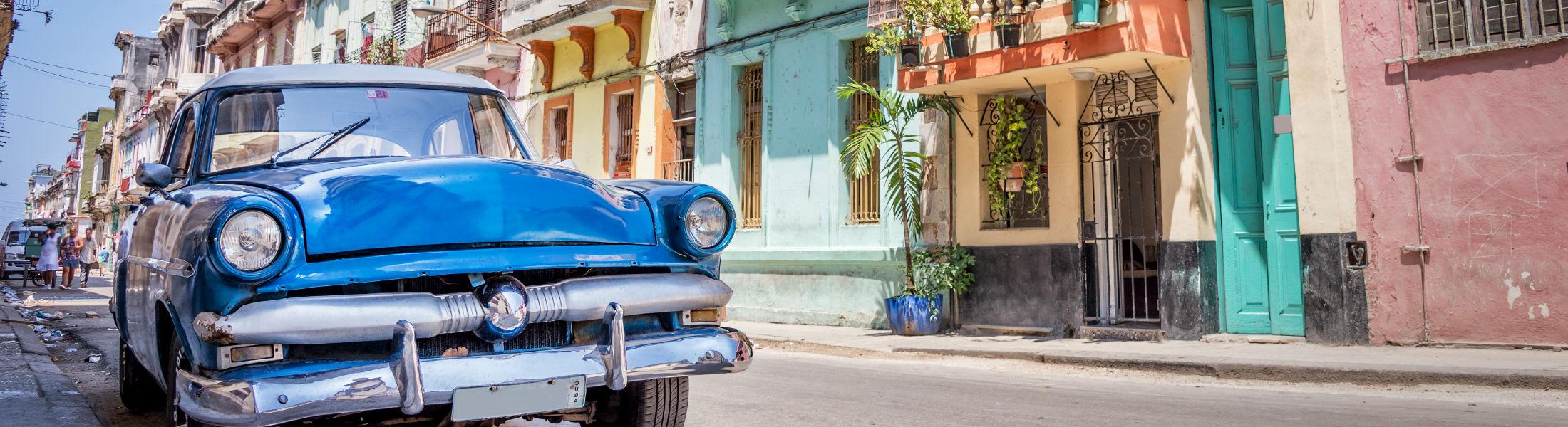 Classic American car in Havana Cuba