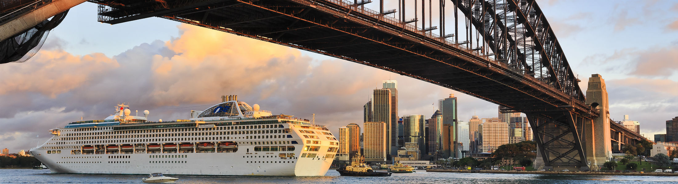 Cruise ship coming into Sydney Harbour