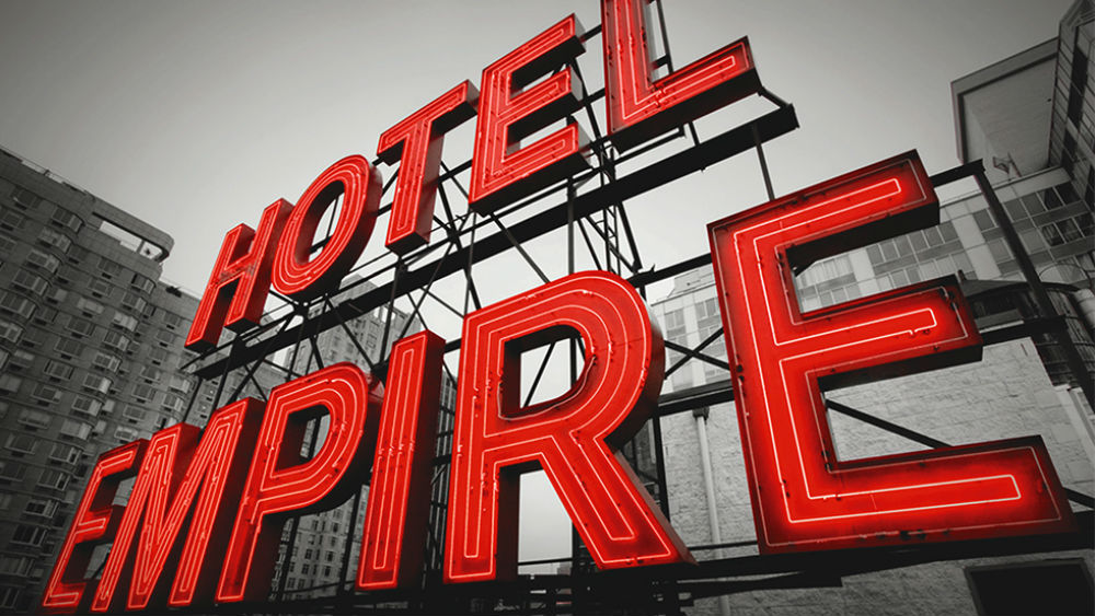 iconic neon sign The empire hotel