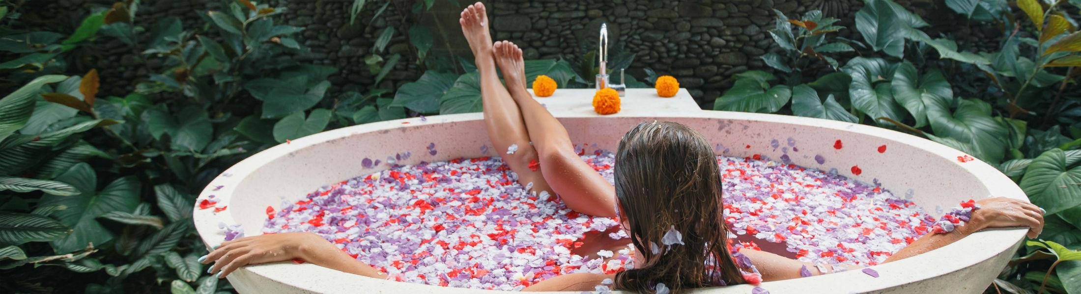petals in a bath