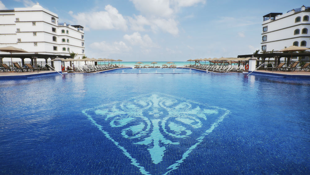 Sea view from the main pool at the Grand Residences Riviera Cancun