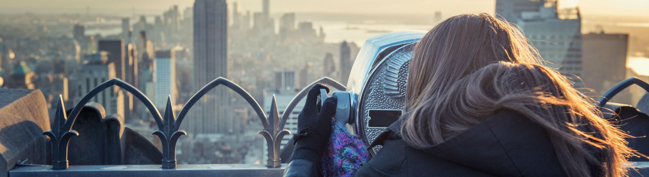 Skyscraper view of New York