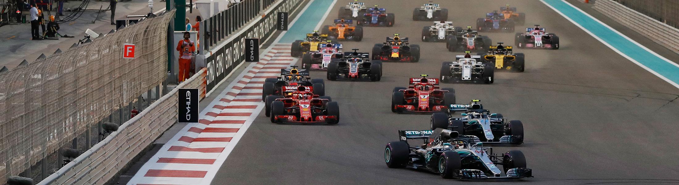 Formula 1 cars at the Abu Dhabi Grand Prix