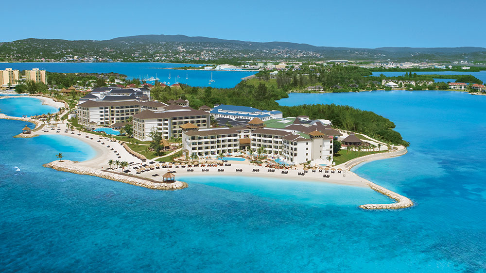 Aerial view of Secrets Wild Orchid Montego Bay