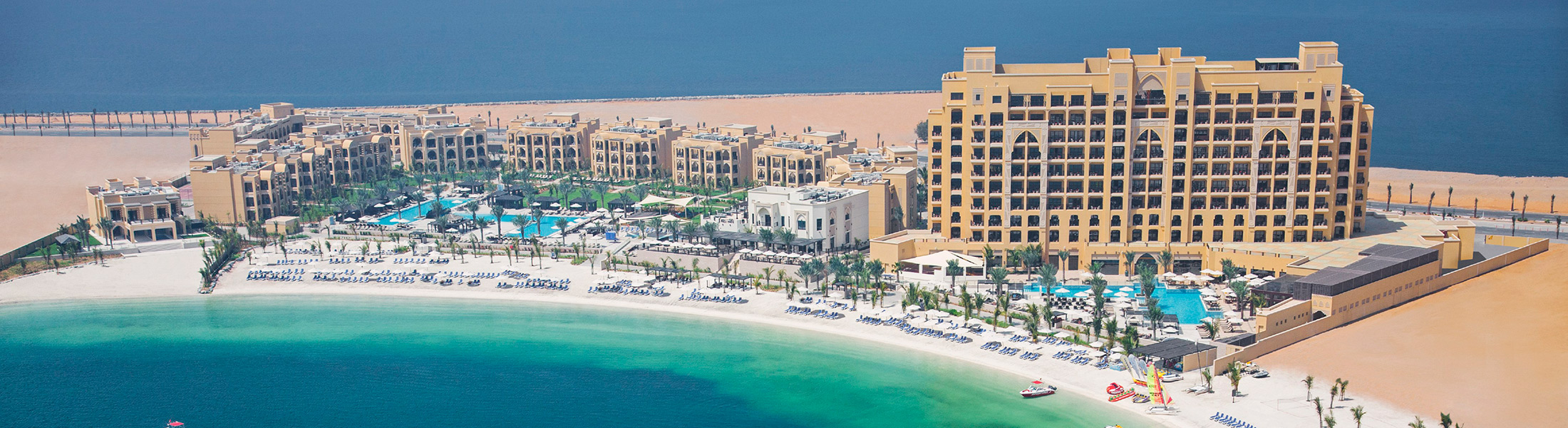 Aerial view of hotel and beach at DoubleTree by Hilton Marjan Island