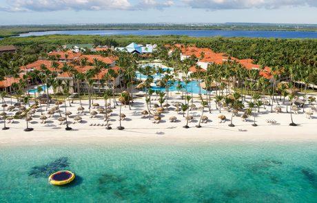 Aerial photo of the Dreams Palm Beach Punta Cana hotel