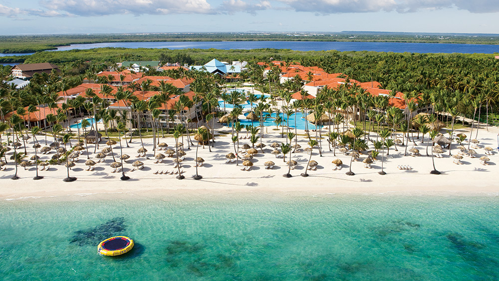 Aerial photo of the Dreams Palm Beach Punta Cana hotel