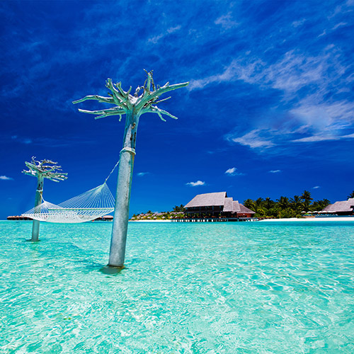 Hammock over water at Anantara Dhigu Resort