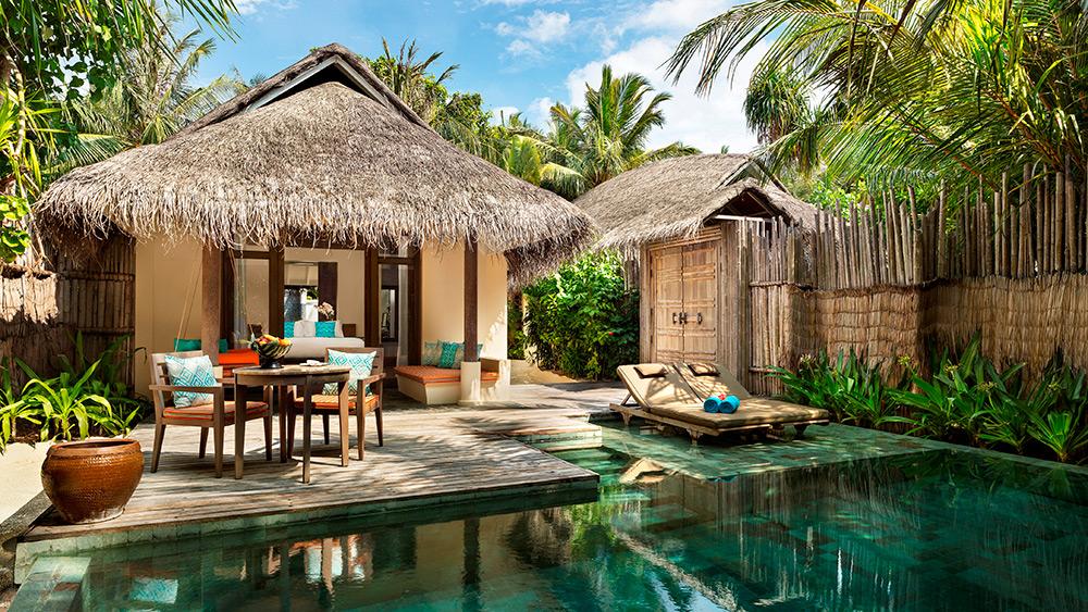 Private pool in the Anantara Pool Villa at Anantara Dhigu Resort
