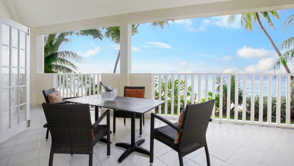 Balcony overlooking the ocean at Sugar Bay Barbados