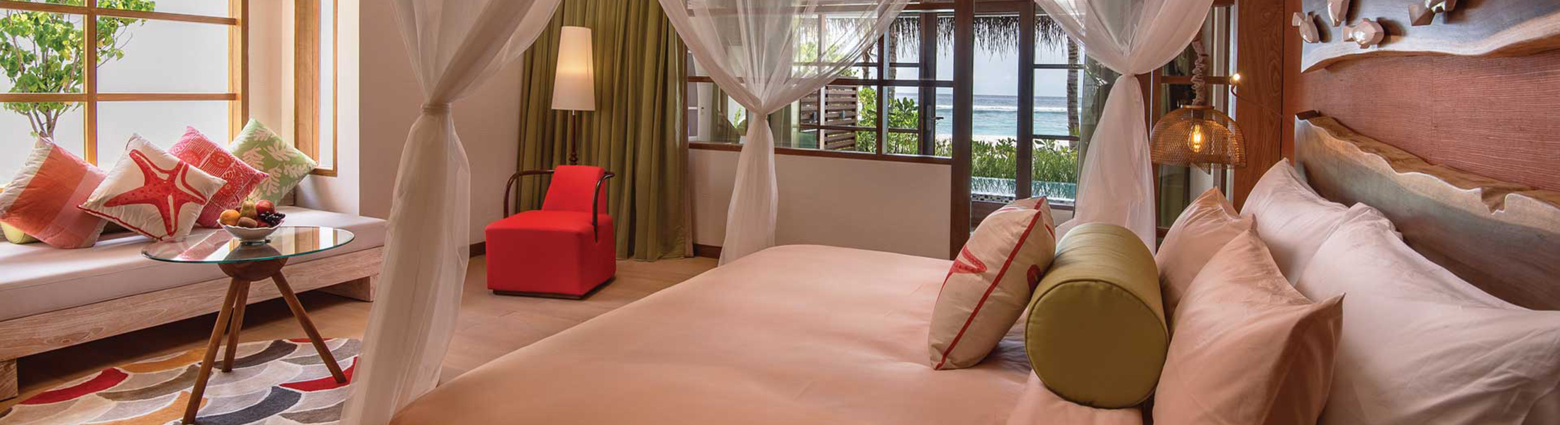 Bedroom of the Beach Family Suite at Oblu Select at Sangeli