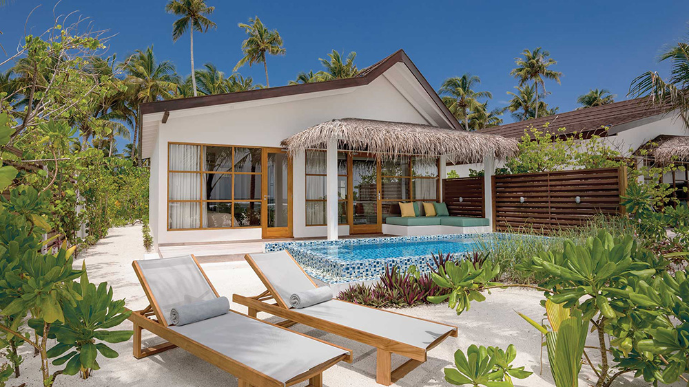 Exterior of the Beach Family Suite at Oblu Select at Sangeli