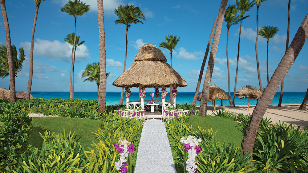 Beach Gazebo at the Dreams Palm Beach Punta Cana