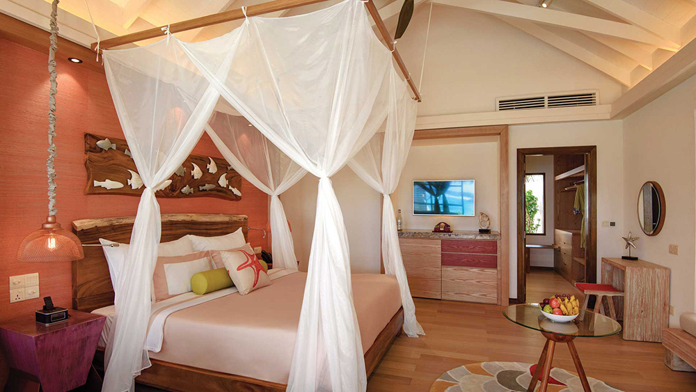 Bedroom of the Beach Villa at Oblu Select at Sangeli