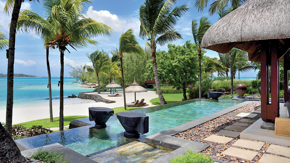 Private pool at the Beach Villa at Shangri-La Le Touessrok