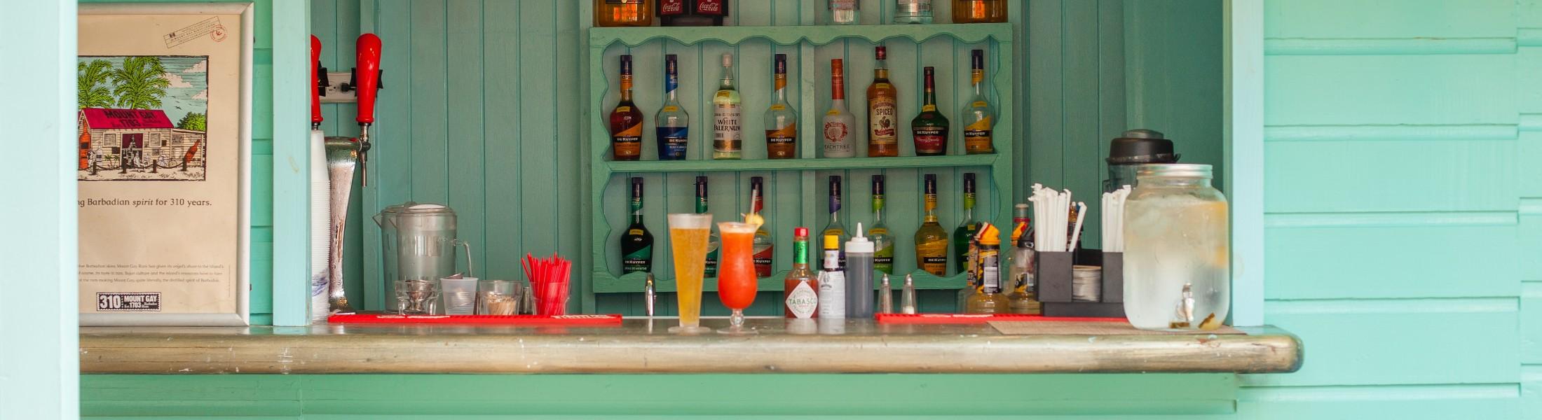 Caribbean bar at Sugar Bay Barbados